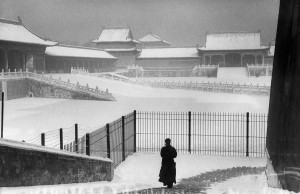 China, 1957. Forbidden city under the snow.