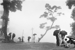 India, 1956. Set against the Himalayas, Darjeeling is often cloaked in mist and drizzle, both of which are excellent for growing its famous tea.