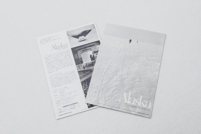"Invitation card for the exhibition ""Alaska"" at Chanel Nexus Hall, Ginza, Tokyo, Japan, 2015"