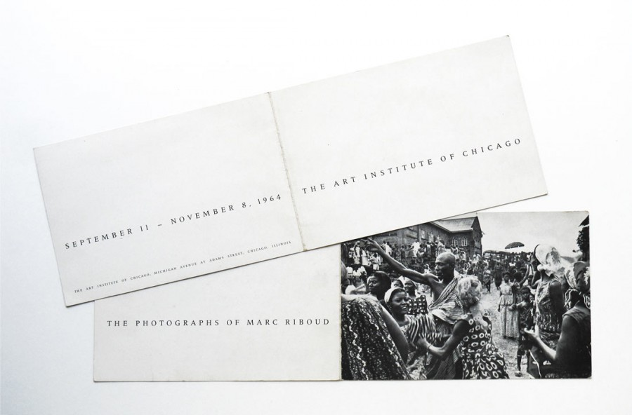 Invitation card of the first monographic exhibition of Marc Riboud in 1964 at the Art Institute of Chicago