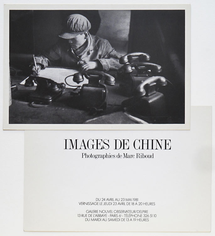 "Invitation card of the exhibition ""Images de Chine"" at the Galerie Nouvel Observateur/Delpire, Paris, 1981"