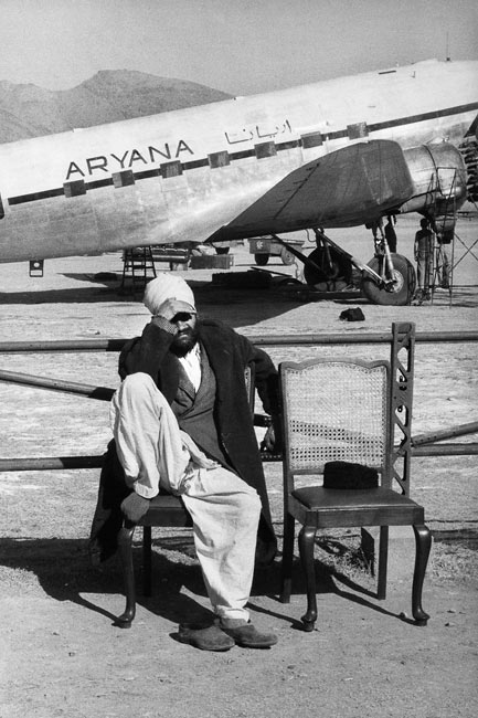 Kabul airport, Afghanistan, 1955