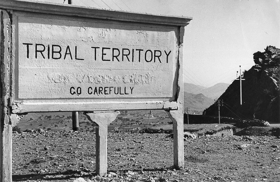 At the border between Afghanistan and Pakistan, 1956