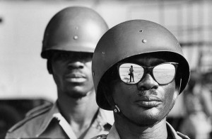 Self-portrait, Leopoldville airport (former name of Kinshasa), Congo, 1961