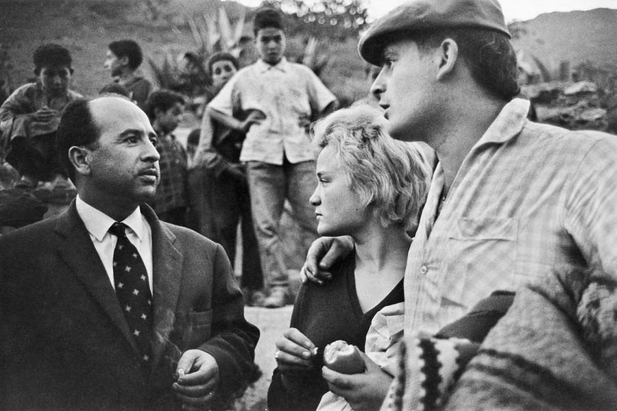 Krim Belkacem (à gauche), entre Trouna et Sétif, 17 juin 1962
