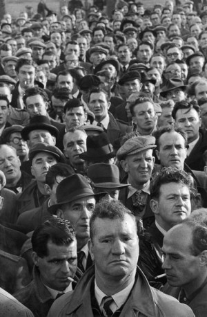 Dockers on strike, London, 1954