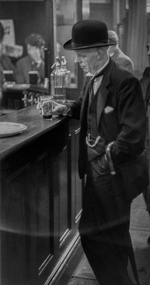 At the pub, Leeds, 1954