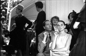 Audrey Hepburn and Mel Ferrer at a Christian Dior show, Paris, 1959