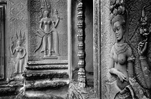 Devata in the temple of Angkor Vat, 1969