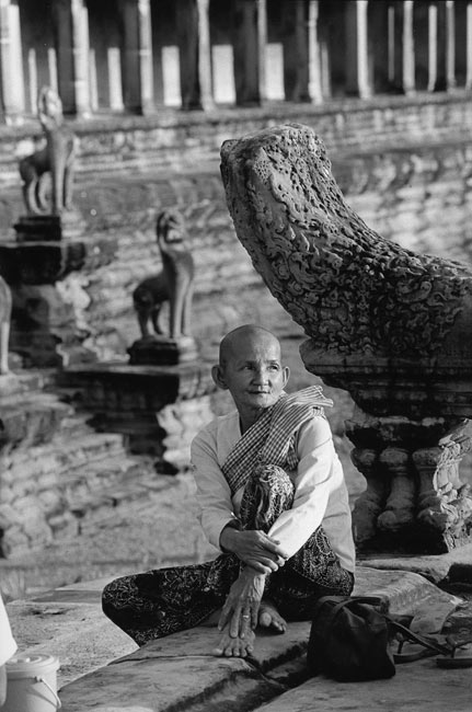Woman in Angkor Vat, 1990