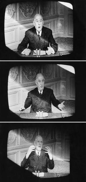 Charles de Gaulle s'exprime à la télévision, France, 1968