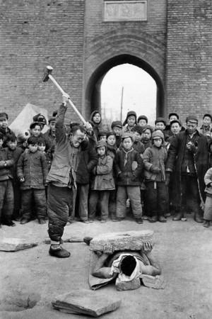 Spectacle de rue, Pékin, 1957