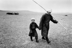 Father and son, Inner Mongolia, 1965