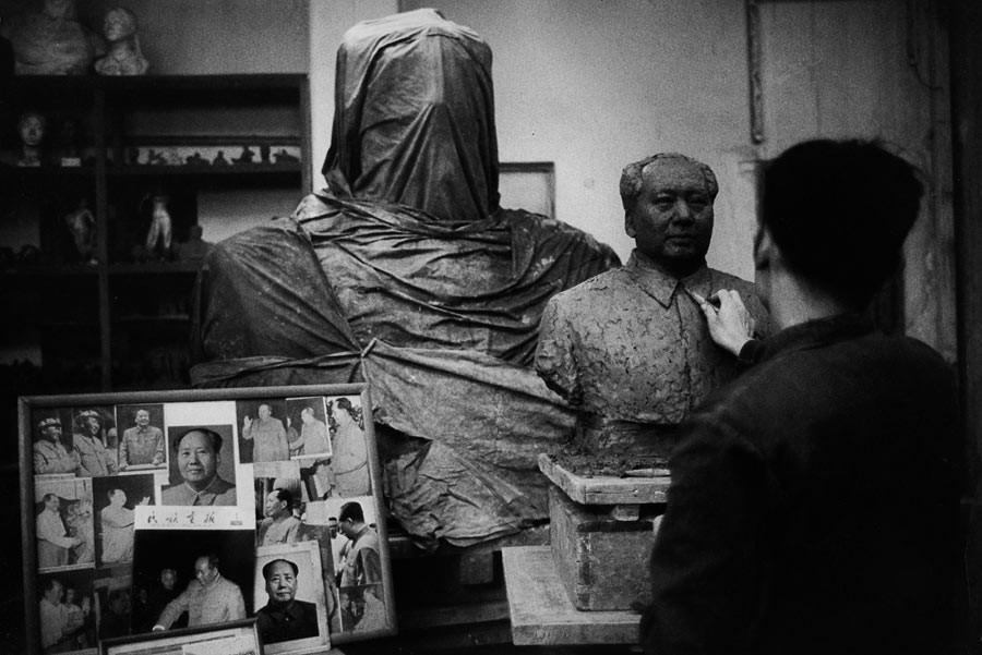 Buste d'une statue de Mao Zedong, 1965
