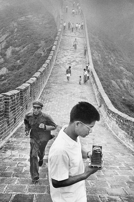 Photographer on the Great Wall, 1971