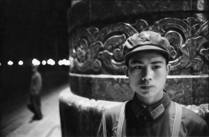 Young soldier in front of the People's Palace in Beijing, 1965