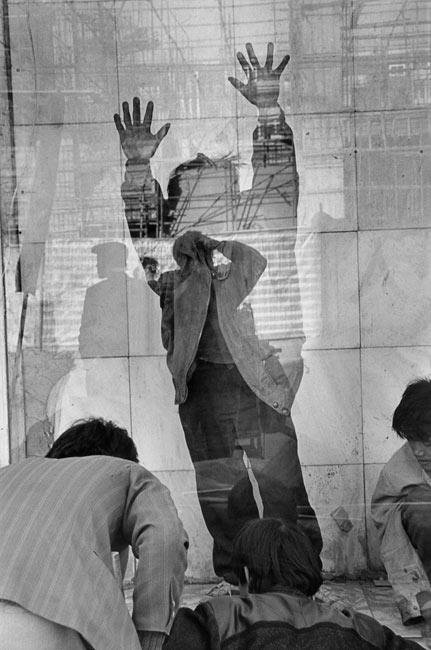 Jeu de reflets sur un chantier de construction de Taiyuan, 1995
