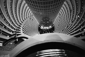 Grand Hyatt hotel inside Jin Mao tower, Shanghai, 2002