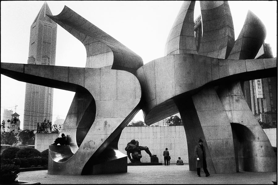 Sculpture on the People's square, Shanghai, 2001