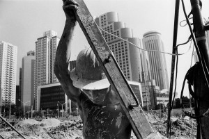Chantier de construction à Shenzhen, 1995