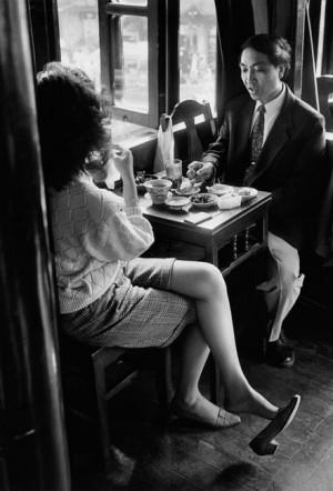 In a café, 1994