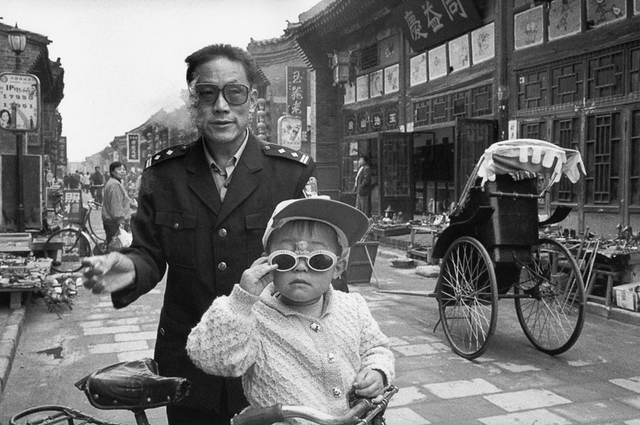 Father and son in Pingyao, 2002