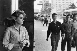 Jeune femme de garde dans le quartier de Vedado, La Havane, 1963