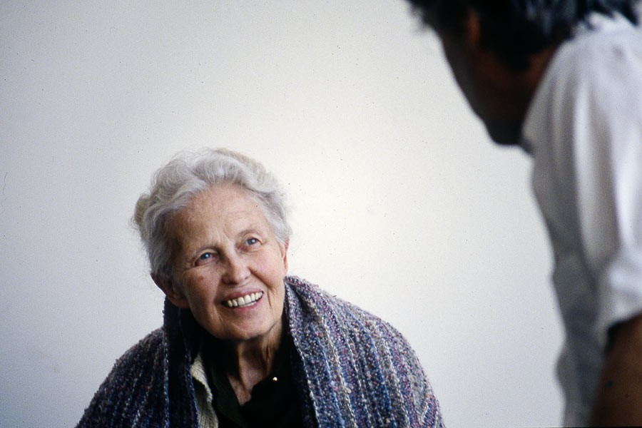 Dominique de Menil in The Menil Collection, Houston, 1991