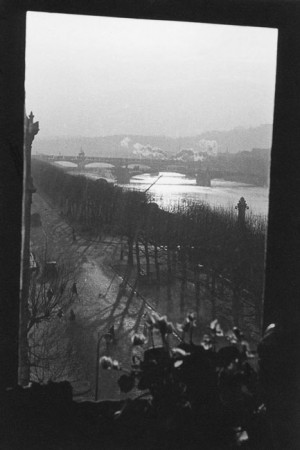 View from Marc Riboud's bedroom window in Lyon, 1942