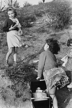 "Fifine to Aurore : ""How windy it is to take my daughter for a walk today!"", Provence, 1953"