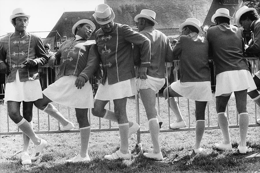 Men Majorettes society of Chémery-Mehers, Touraine, 1987