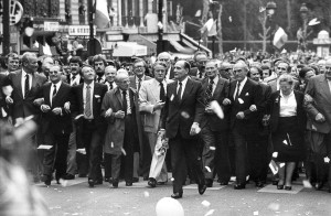 François Mitterrand le lendemain de son élection, Paris, mai 1981