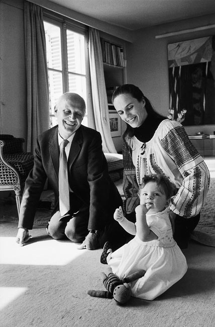 Henri Cartier-Bresson, Martine Franck et leur fille, Paris, 1973