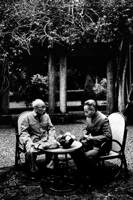 Ho Chi Min and Pham Van Dong, Vietnam, 1969