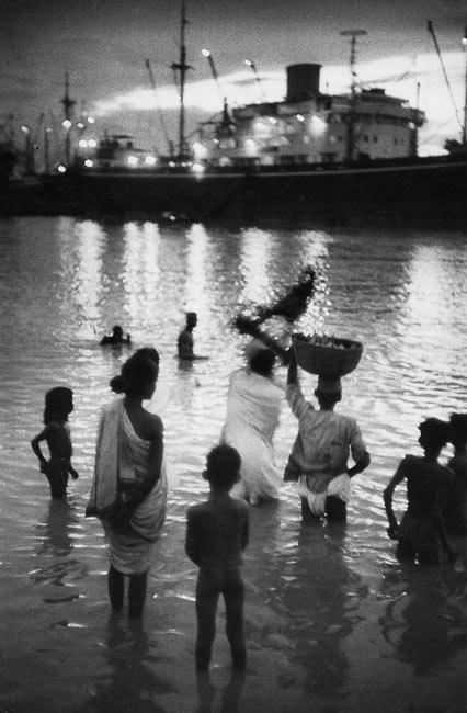 Rives du Gange à Calcutta, 1956