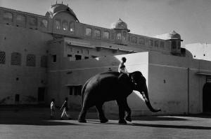 Devant le palais de Jaipur, 1956