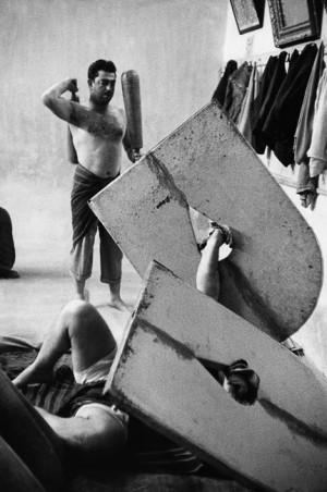 Lutteurs, Téhéran, 1955