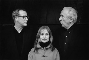 Isabelle Huppert avec Bob Wilson et Pierre Soulages, Paris, 1994