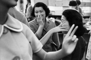 Dans un grand magasin de Tokyo, 1958