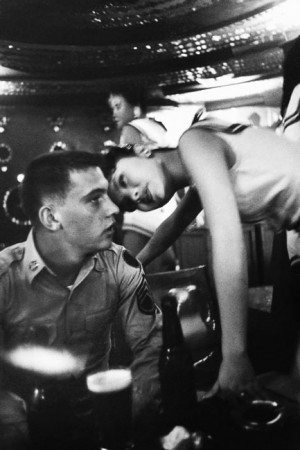 Bar frequented by American soldiers, Tokyo, 1958