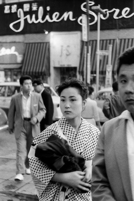 In front of the café Julien Sorel, Tokyo, 1958