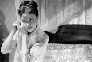 """Jeanne Moreau pendant une répétition du film """"Julietta""""de Marc Allégret, Paris, 1953"""