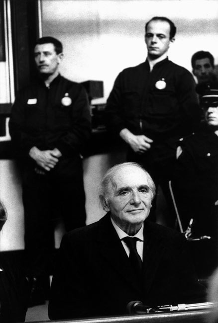 Klaus Barbie during his trial in Lyon, 1987