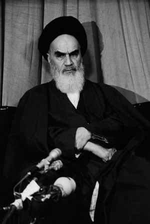 Ayatollah Khomeiny, Téhéran, Iran, 1979