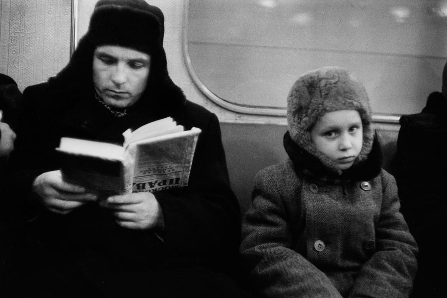 In the metro, Moscow, 1960