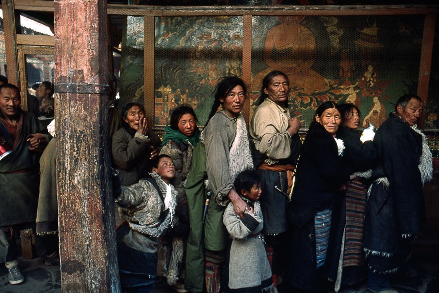 At the entrance of Potala, Lhassa, 1985