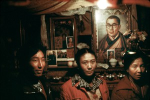 In a family oratory in Lhassa, 1985