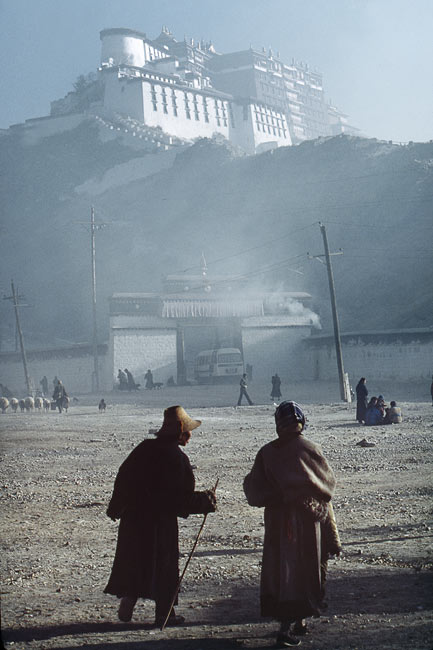 Pilgrims in front of the Potala, Lhassa, 1985