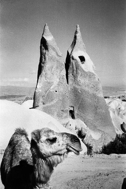 Habitat troglodyte entre Urgüp et Uçhisar, Cappadoce, 1955