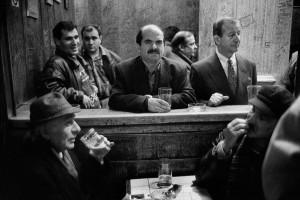 Dans un café du quartier de Beyoglu, Istanbul, 1998